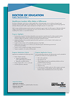 Doctor of Education Public Health Policy Degree Guide printed page view