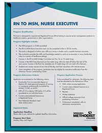 RN to MSN Nurse Executive Degree Guide